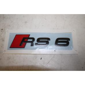RS6 embleem achterkant zwart Audi RS6 Bj 20-heden