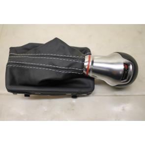 0567834 - 8V1713139HXBA - Schakelhendelgreep S-tronic leer zwart/zilver Audi A3, S3 Bj 13-heden