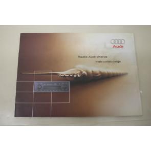 Instructieboekje radio chorus nederlandstalig div. Audi modellen Bj 98-05