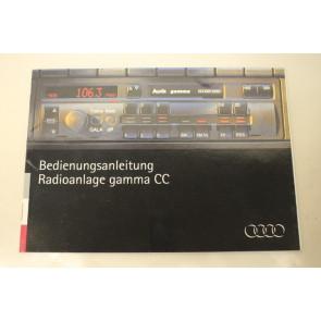 Instructieboekje Radio gamma CC duitstalig Div. Audi modellen
