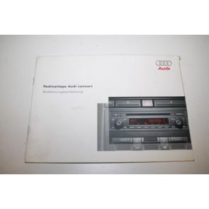 Instructieboekje radio concert duitstalig Audi A4, S4 Bj 01-05